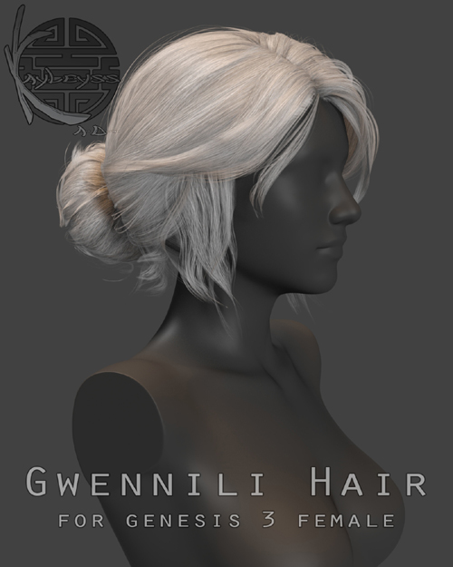 Gwennili Hair for Genesis 3 female