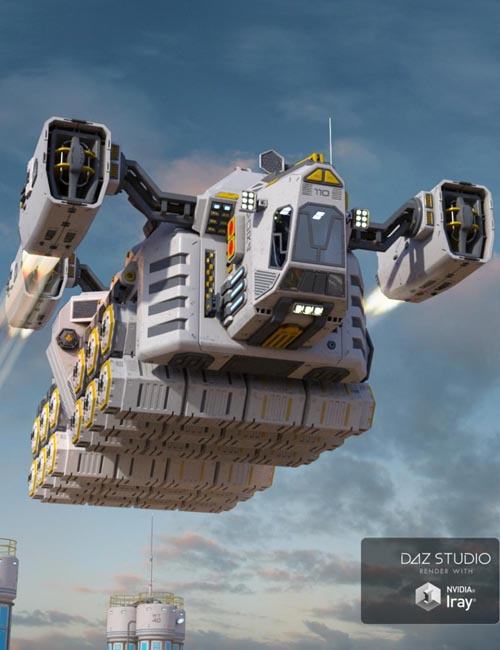 Sci-fi Cargo Ship
