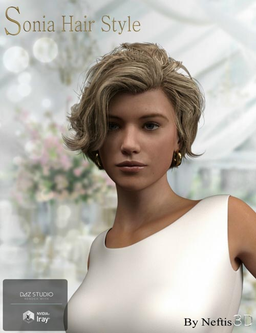 Sonia Hair for Genesis 3 and Genesis 8 Female(s)