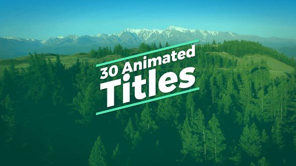 30 Animated Titles