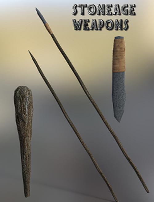 Stoneage Weapons [ .DUF 3Delight & Iray ]