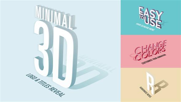 Minimal 3D - Logo & Titles Reveal