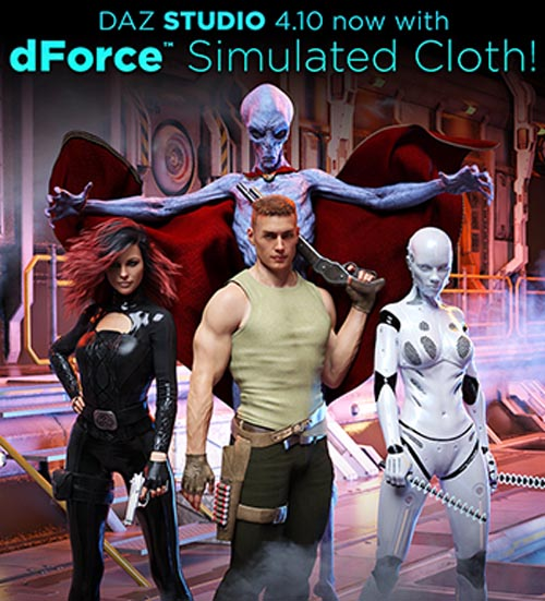 dForce Simulated Cloth!
