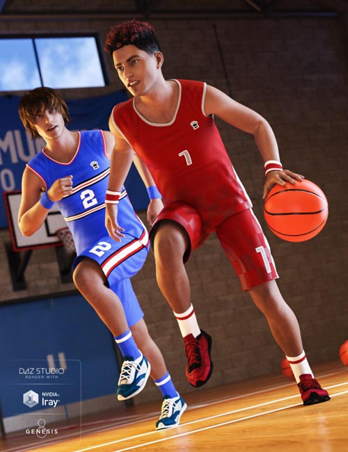 Basketball Kit for Genesis 8 Male(s)