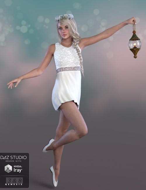 dForce Summer Angel Outfit for Genesis 3 and 8 Female(s)