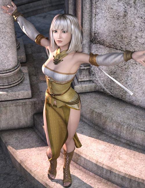 dForce Frey Healer Outfit for Genesis 3 Female(s)