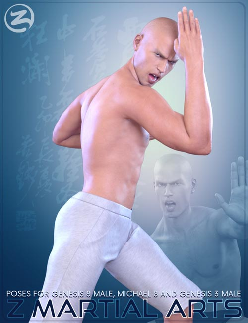 Z Martial Arts - Poses for Genesis 3 Male, Genesis 8 Male and Michael 8