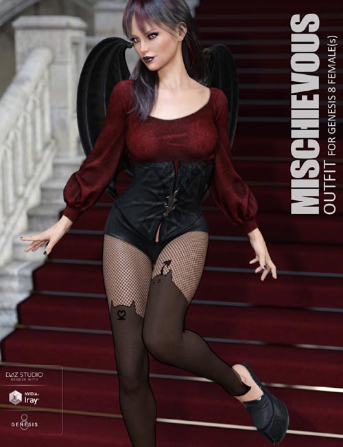 Mischievous Outfit for Genesis 8 Females