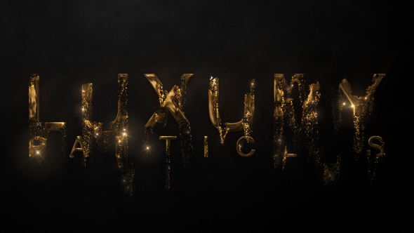 Luxury Particle Logo