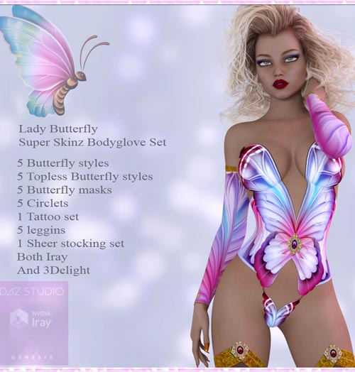 A#1 Lady Butterfly Bodyglove Set