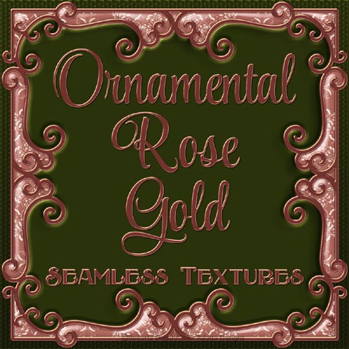 Ornamental Rose Gold Seamless Textures