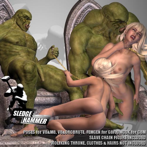 Orc's Slave For G8 Couple