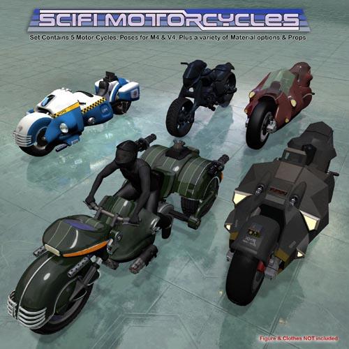 5 X Sci-Fi Motorcycles