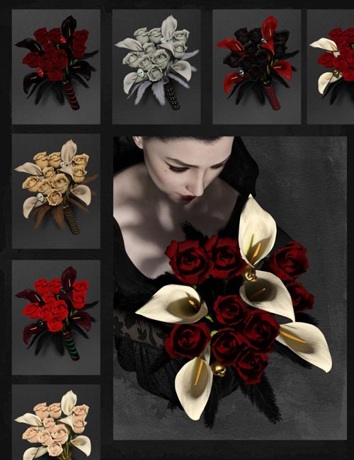 Gothic Flowers: Mix and Match Floral Bouquet