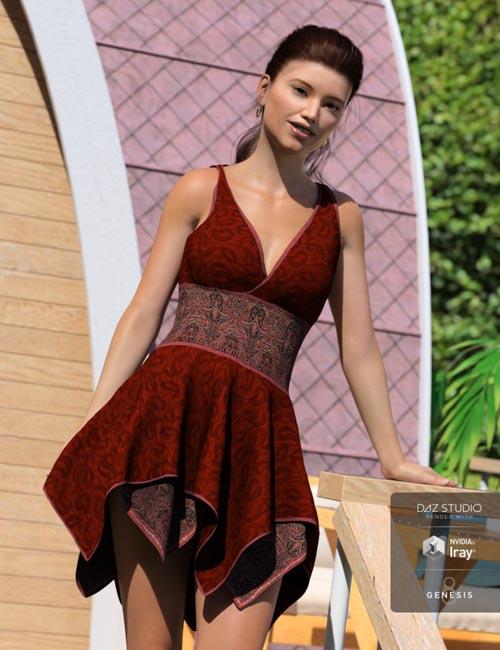 Hinata Dress for Genesis 8 Female(s)