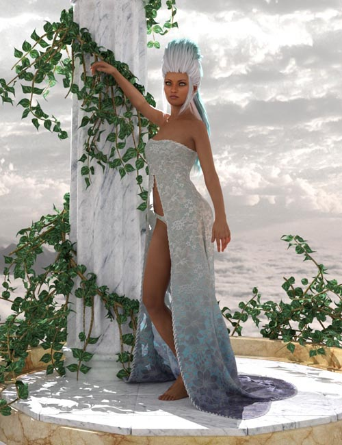 dForce Romantic Dress Outfit for Genesis 8 Female