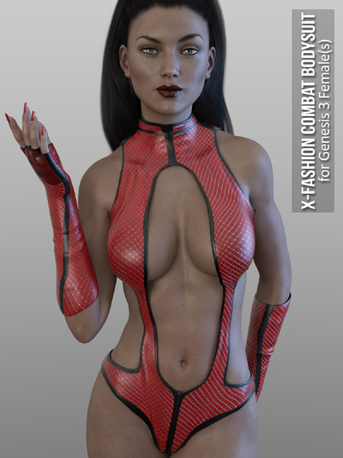 X-Fashion Combat Bodysuit for Genesis 3 Females