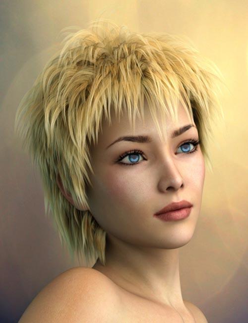Vidra Hair for Genesis 3 Female(s) and Male(s)