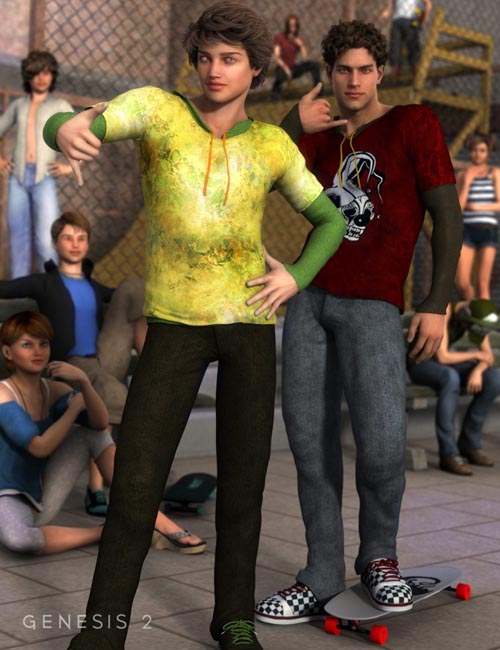 Skate Park Outfit Textures [ Iray UPDATE ]