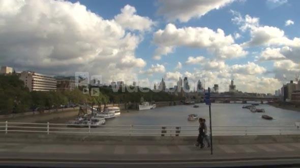 Scenic Skyline View Of London From Tower Bridge