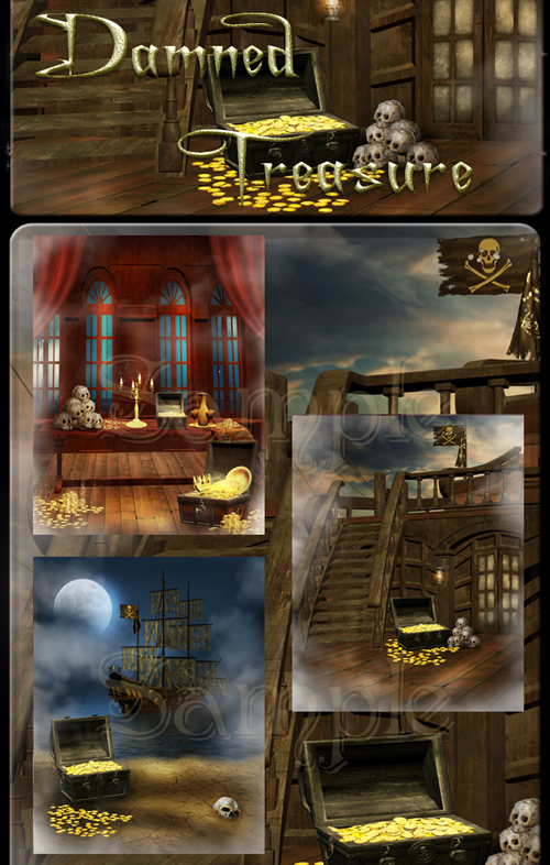 Damned Treasure Backgrounds
