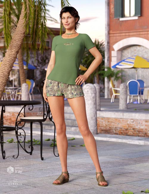 Sunny Shorts Outfit for Genesis 8 Female(s)