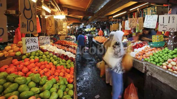 Chow Kit fruit and vegetable street market, Kuala Lumpur, Malaysia, AsiaChow, Kit, fruit, and, vegetable, street, market, Kuala, Lumpur, Malaysia, Asia