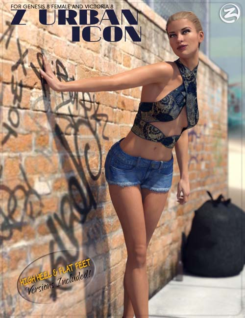Z Urban Icon - Poses for Genesis 8 Female and Victoria 8