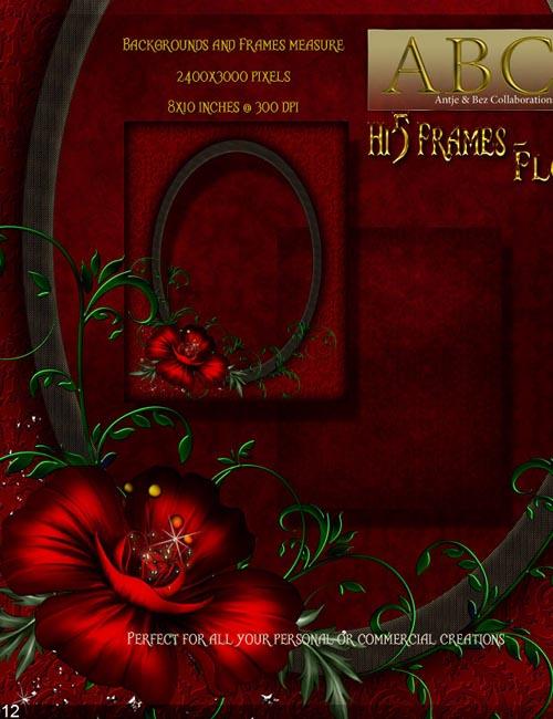 ABC - Hi5 Frames - Floral
