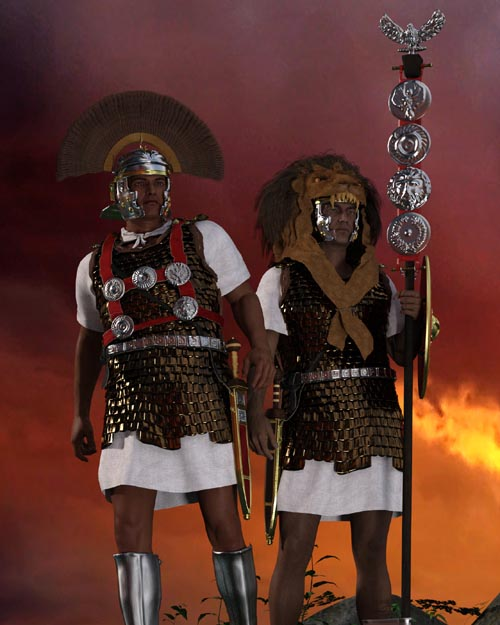 Centurion and Aquilifer for Genesis 3 Male