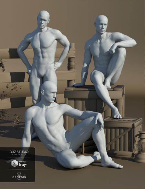 Stallion Poses for Genesis 8 Male and Michael 8