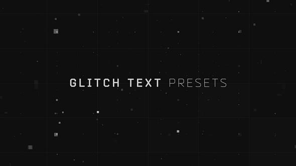 Glitch Text Presets