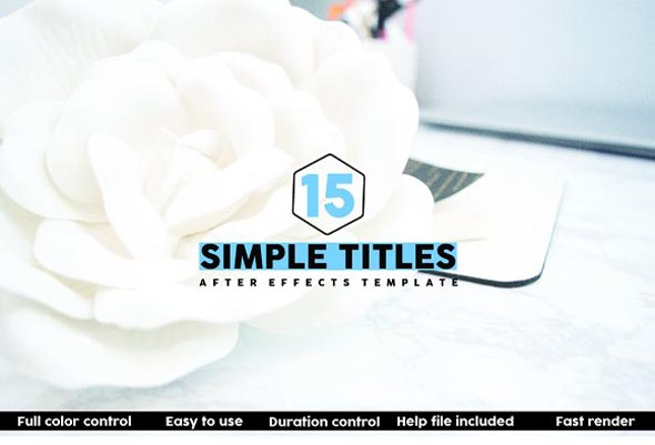 15 Simple Titles : After Effects