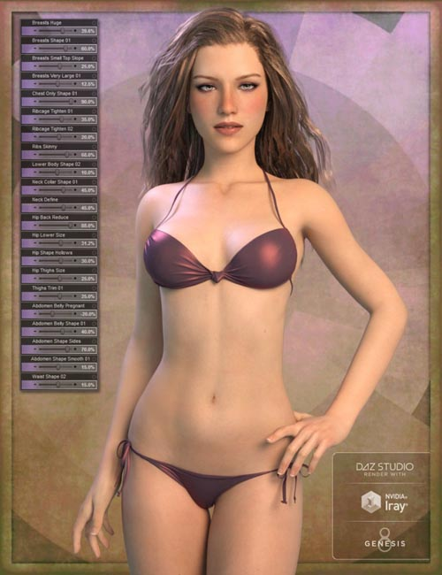 Genesis 8 Female Body Morph Resource Kit 3
