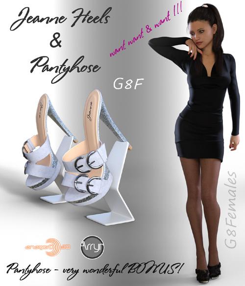 Jeanne Heels & Pantyhose G8F