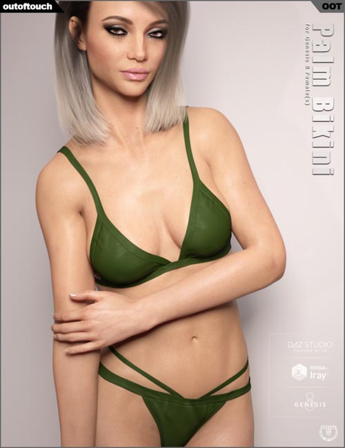 Palm Bikini for Genesis 8 Female(s)