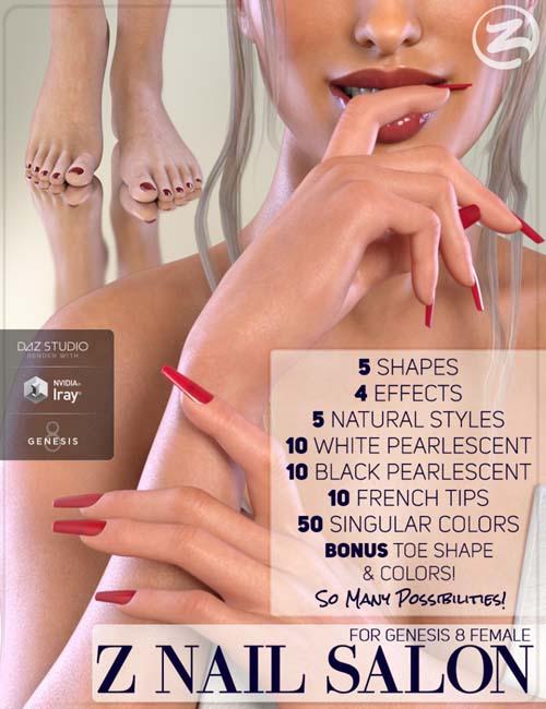 Z Nail Salon for Genesis 8 Female(s)