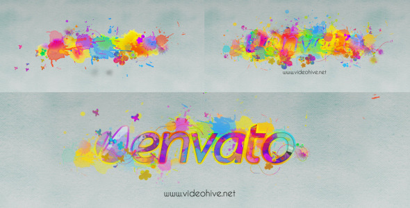 Logo Revealer Paint Drops Design