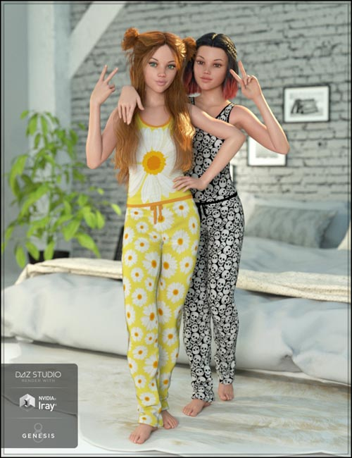 Ready for Bed Pajama Set Textures