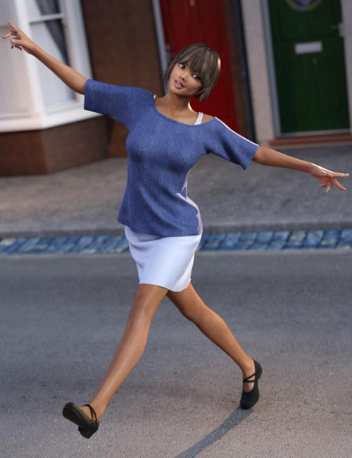 dForce Casual Style Outfit for Genesis 3 Female(s)