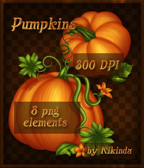 Fall Pumpkins Elements