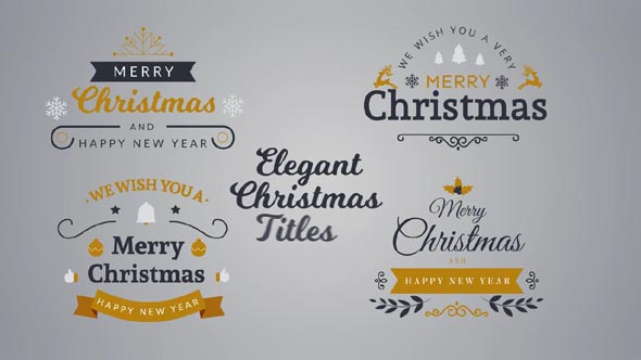 Elegant Christmas Titles