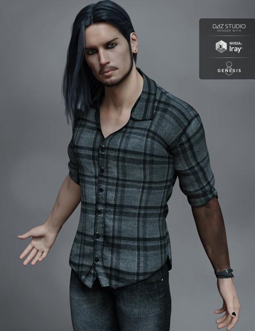 FW Kieron HD for Genesis 8 Male and LI Kieron Whiskers
