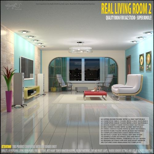 Living Room 2 for Daz Studio