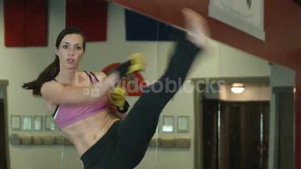 Woman Doing Martial Arts Exercises 3