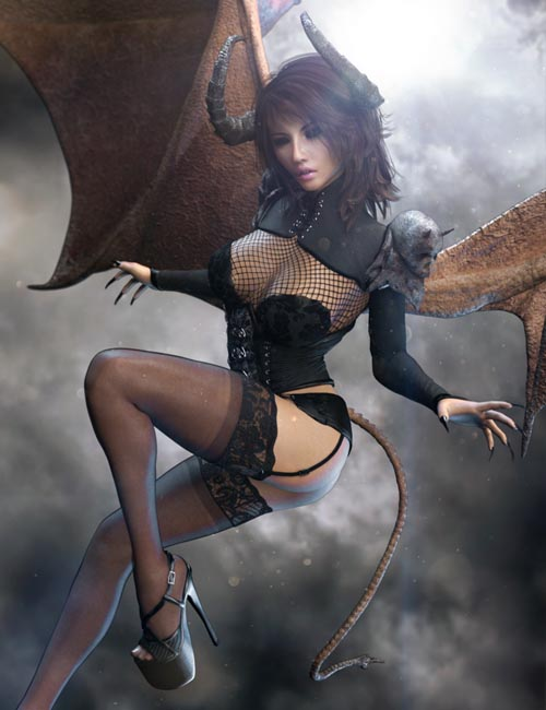 Infernal Succubus Outfit and Add-Ons for Genesis 8 Female