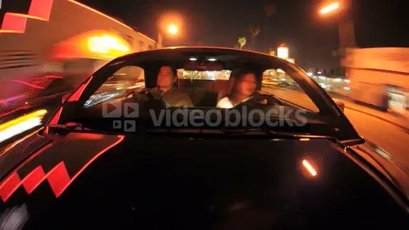 Car Driving CIty Lights Timelapse