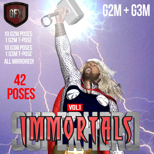 SuperHero Immortals for G2M & G3M Volume 1