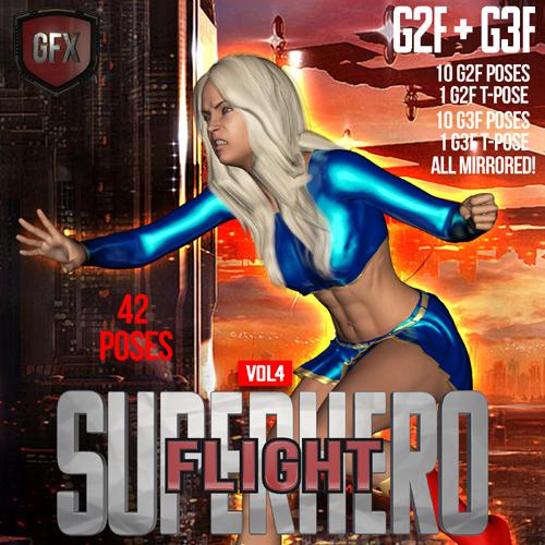 SuperHero Flight for G2F & G3F Volume 4