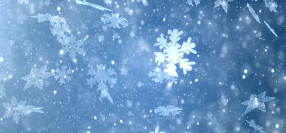 Winter wonderland magic snowflakes. Merry Christmas and a Happy New Year blue background